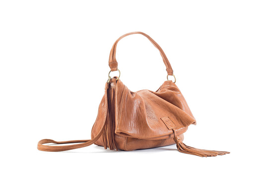 Baby Love Honey Leather Handbag Virginie Darling - Handbag Virginie Darling