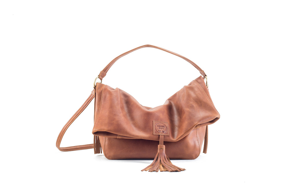 Baby Love Natural Leather Handbag Virginie Darling - Handbag Virginie Darling