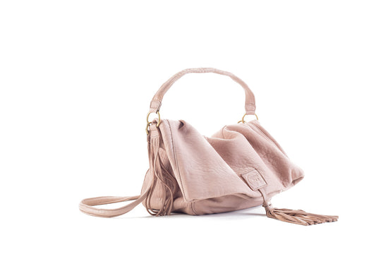 Baby Love Blush Leather Handbag Virginie Darling - Handbag Virginie Darling
