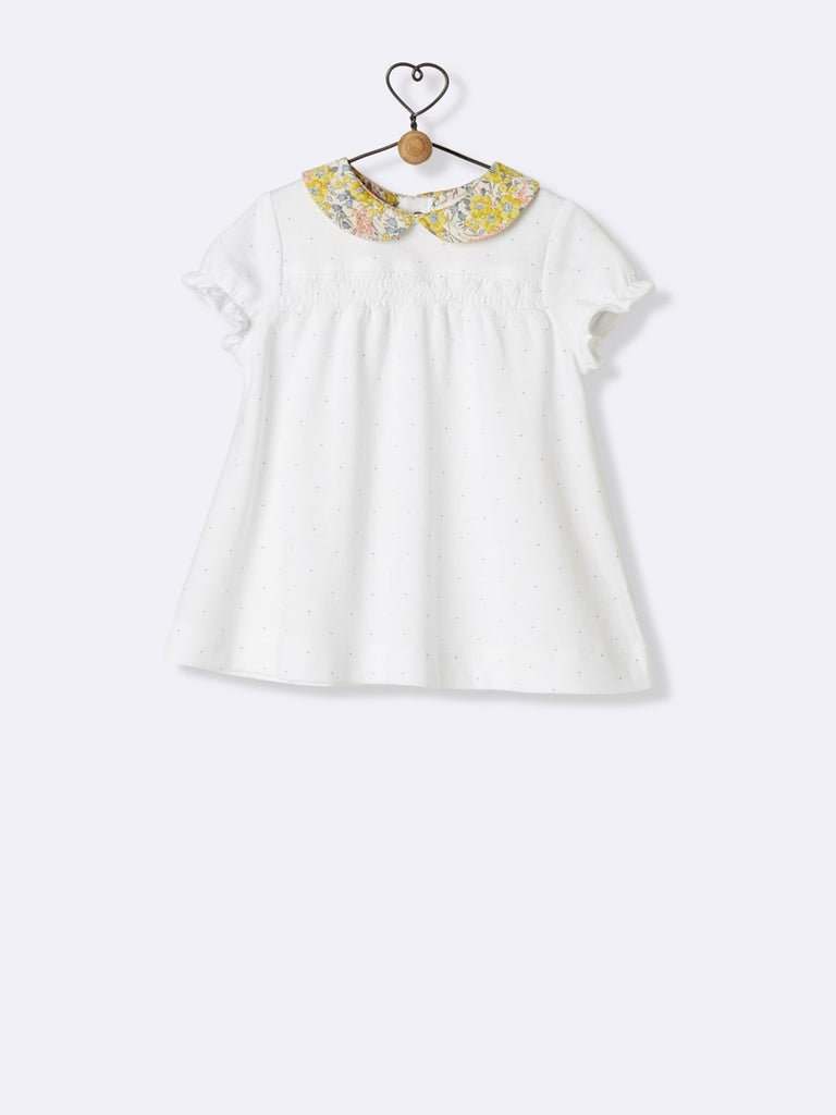 Babys T-Shirt With Liberty Collar Cyrillus - T-Shirt Cyrillus