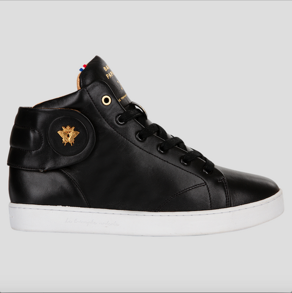 barons papillom all black sneakers mid