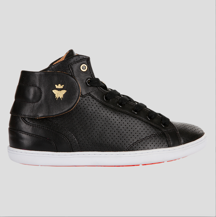barons papillom all black sneakers punched