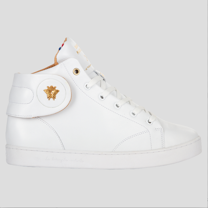 barons papillom all white sneakers mid