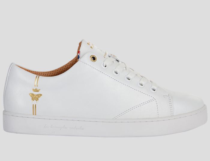 barons papillom all white sneakers