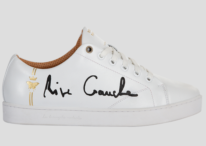 barons papillom all white sneakers rive gauche black signature