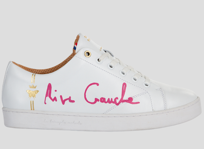 barons papillom all white sneakers rive gauche pink signature