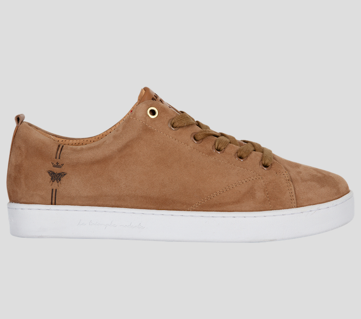 barons papillom sneakers suede camel