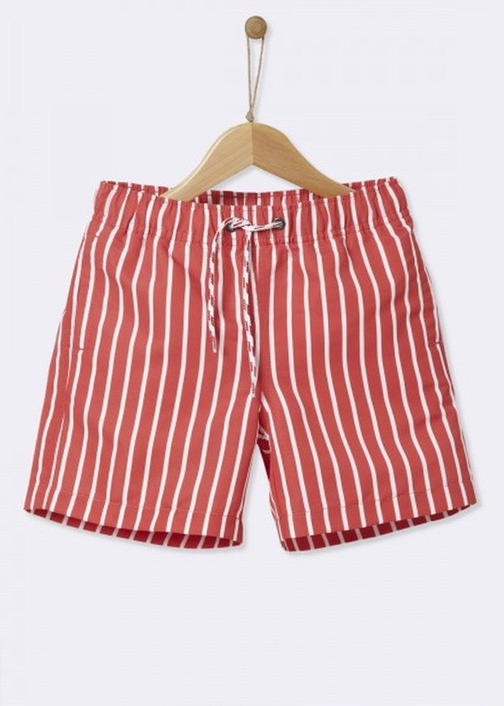 Red & White Shorts Cyrillus - 6 Years - Short