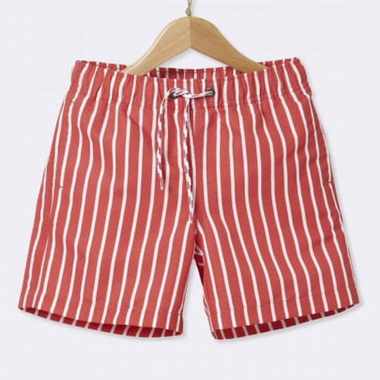 Red & White Shorts Cyrillus - 6 Years - Short Cyrillus