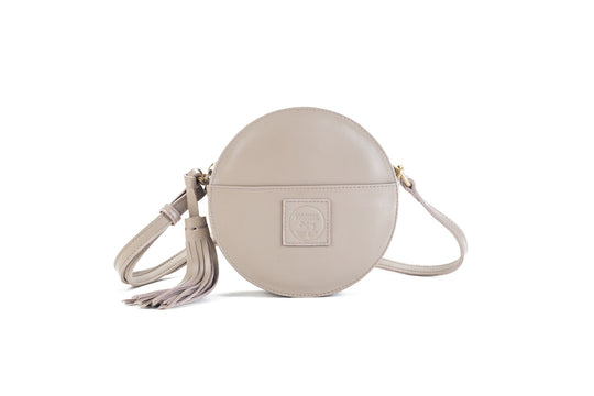 Darling Moon Beige Leather Circle Bag Virginie Darling - Handbag Virginie Darling