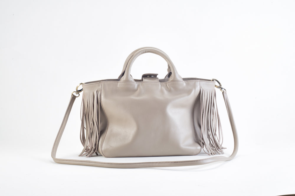 Baby Darling Beige Leather Handbag Virginie