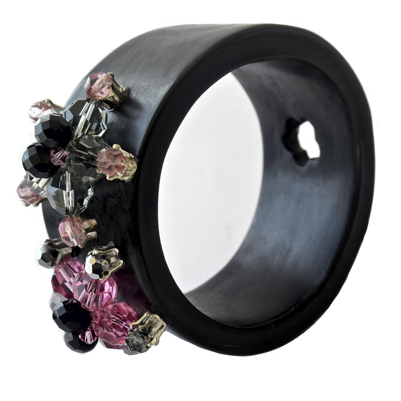 Black Resin Technicolor Bracelet Etone Design - Bracelet