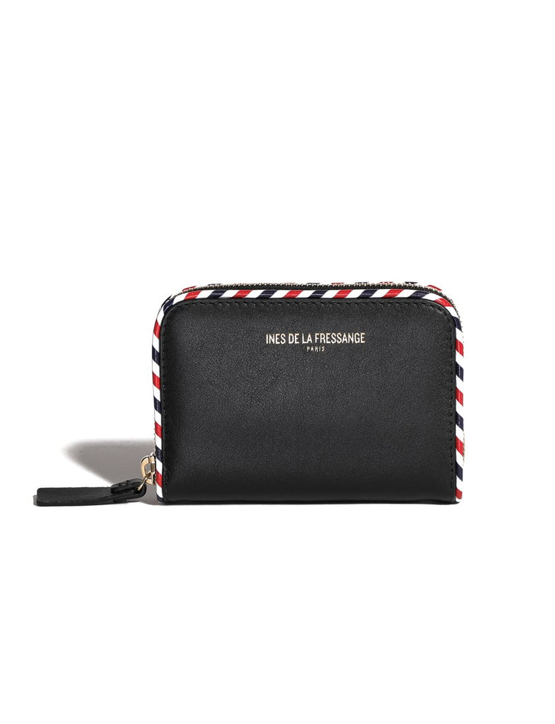 black womens wallet Ines de la Fressange leather goods