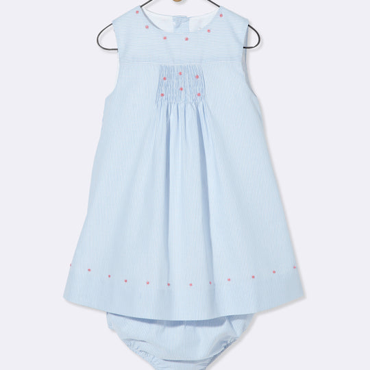 Blue - White Striped Dress Cyrillus - Dresses Cyrillus