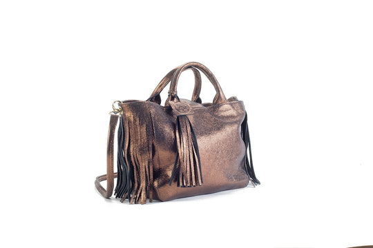 Baby Darling Bronze Leather Handbag Virginie Darling - Handbag Virginie Darling