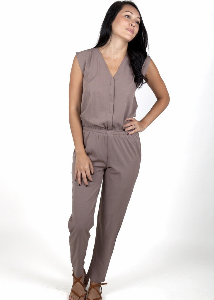 jumpsuits online brown