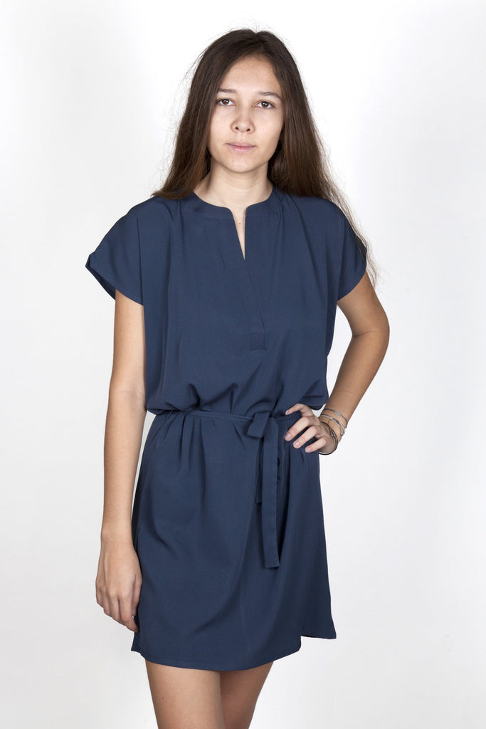 Magali Dark Blue Dress Capsule Collection By Juliette - Dresses