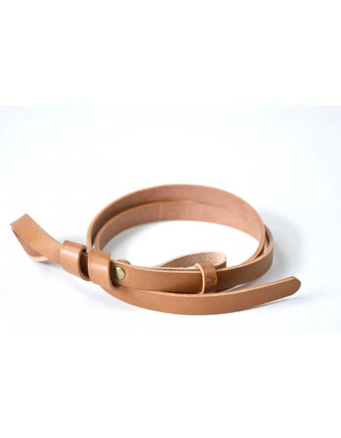 Camel Leather Belt Mathilde Maison Jeanne - Belts Maison Jeanne