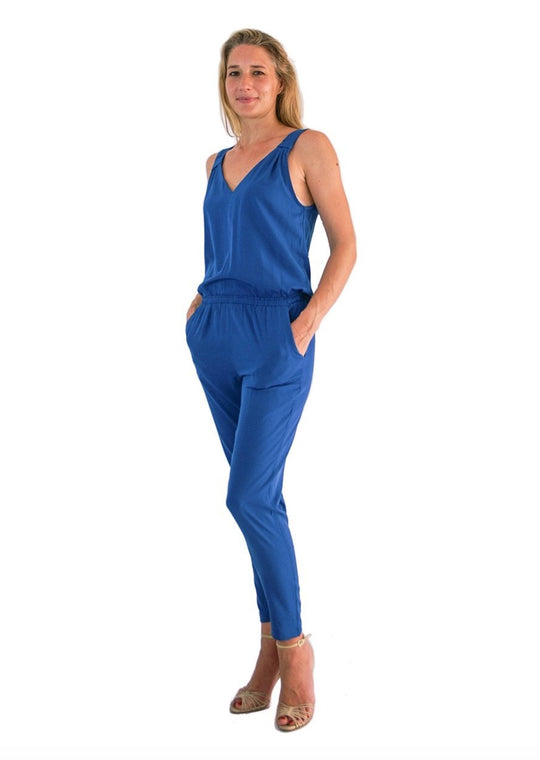 casual jumpsuits blue