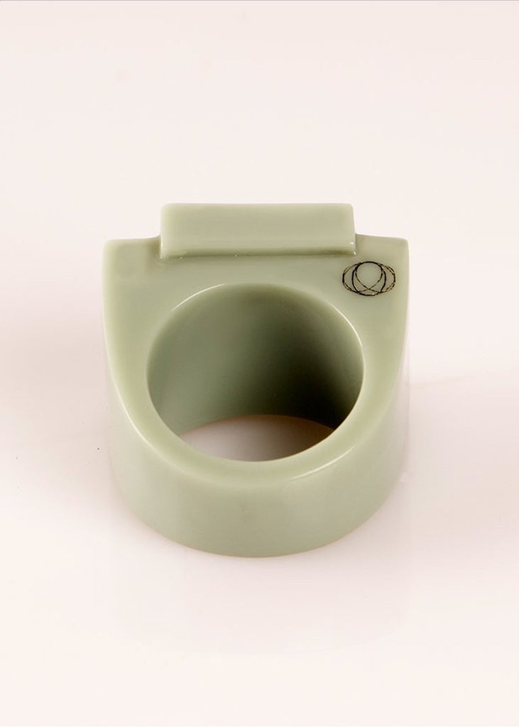 Ring Urbonne - Green The Rose - Lightgreen / 53-S - Ring The Rose
