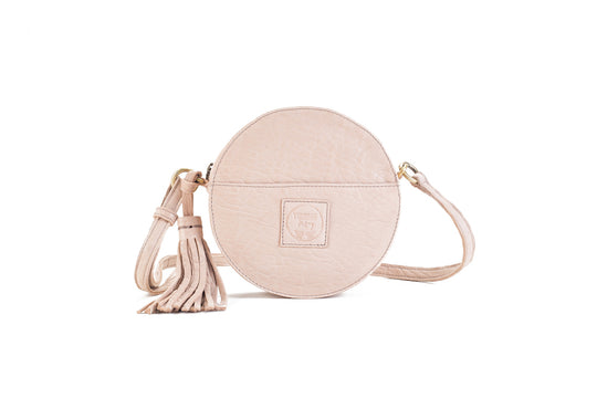 Darling Moon Nude Leather Circle Bag Virginie Darling - Handbag Virginie Darling