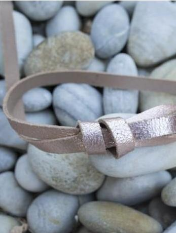 Copper Leather Belt Mathilde Maison Jeanne - Belts Maison Jeanne