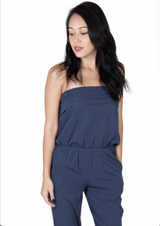 Julie Dark Blue Jumpsuit Capsule Collection By Juliette - Jumpsuits Capsule Collection By Juliette