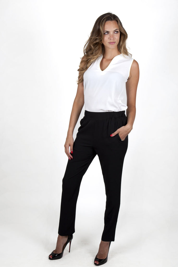 Mathilde Black Pants Capsule Collection By Juliette - Pants Capsule Collection By Juliette