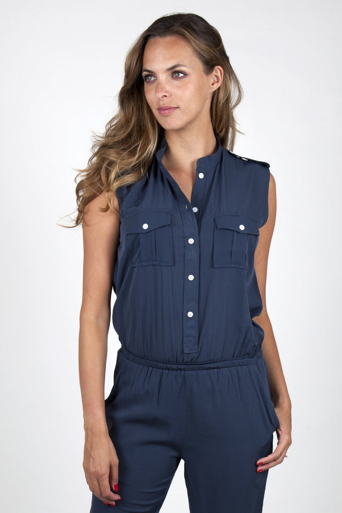 dark blue jumpsuit army