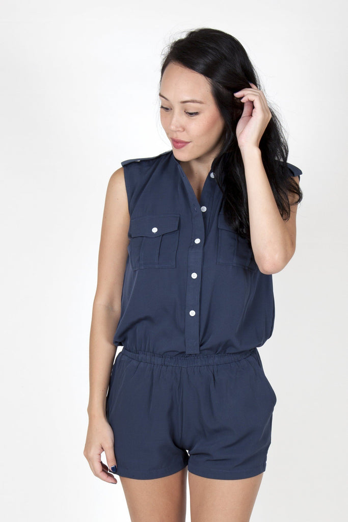 dark blue romper army