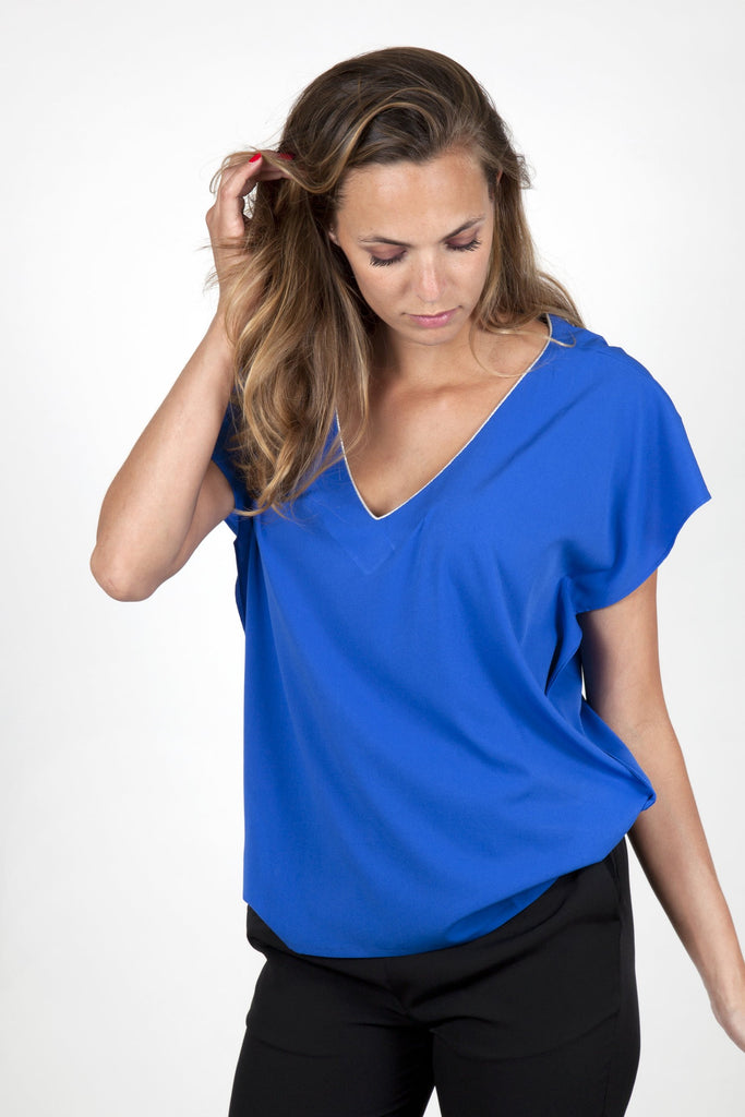 Stella Blue Electric Top Capsule Collection Juliette - Tops By