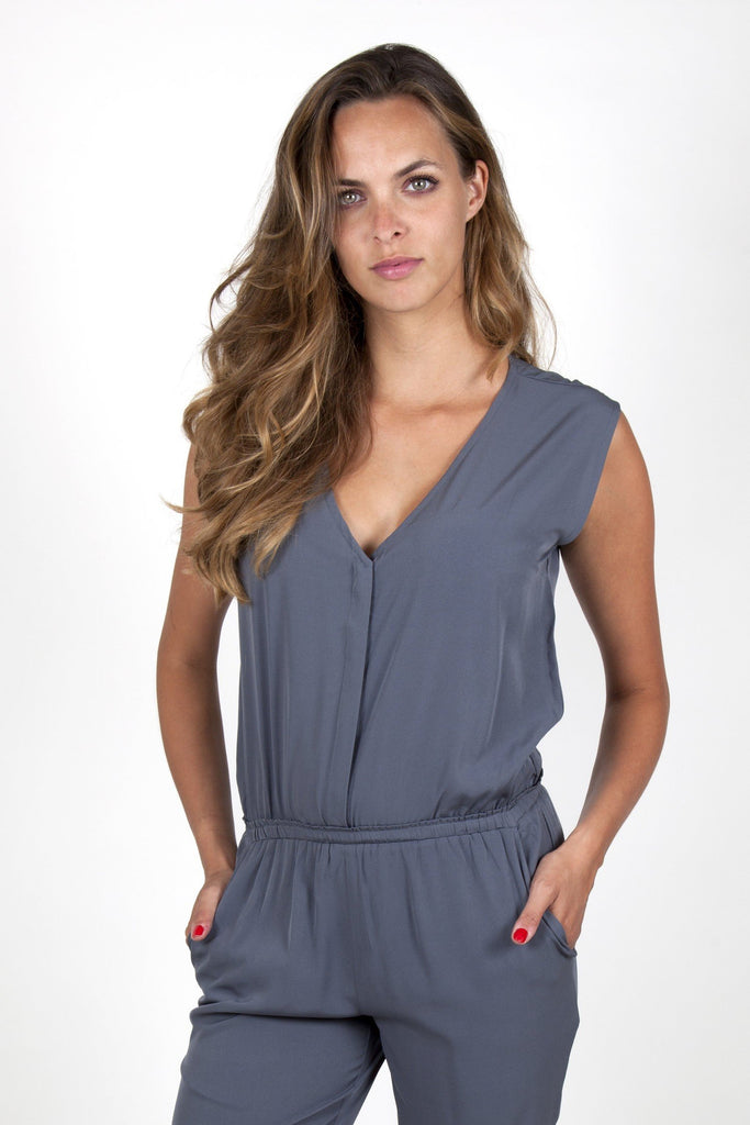 dressy jumpsuits online grey