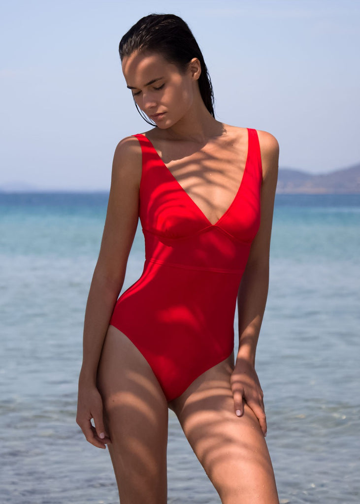 The Red Swimsuit Statice - 36 / Red - Swimsuit Statice
