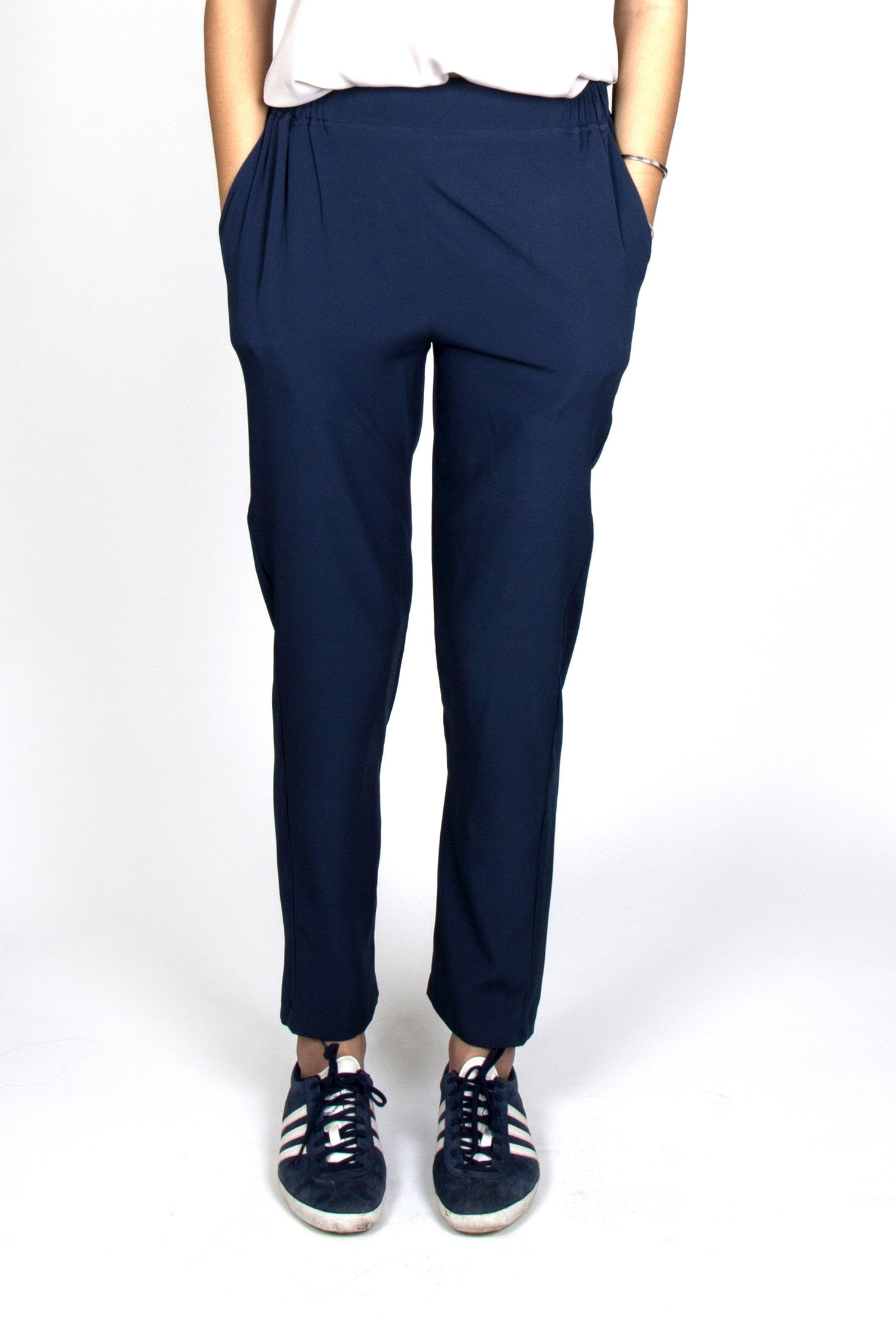 Mathilde Dark Blue Pants Capsule Collection By Juliette - Pants Capsule Collection By Juliette