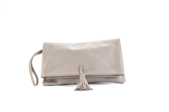 Elena Beige Clutch Medium Virginie Darling - Clutch Virginie Darling