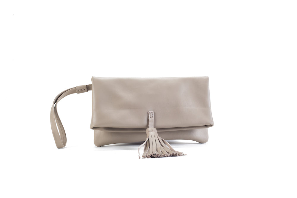 Elena Beige Clutch Small Virginie Darling - Clutch Virginie Darling