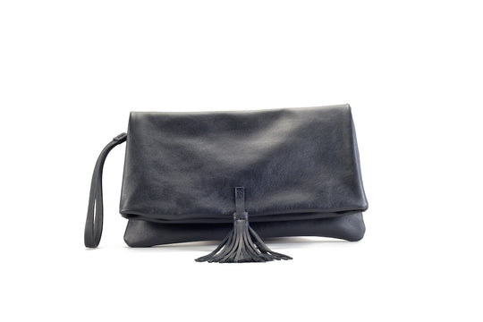Elena Black Clutch Medium Virginie Darling - Clutch Virginie Darling