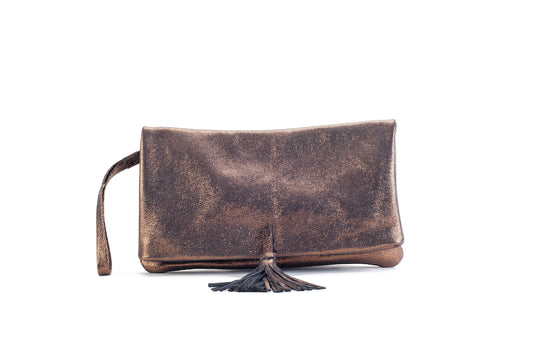 Elena Bronze Clutch Medium Virginie Darling - Clutch Virginie Darling