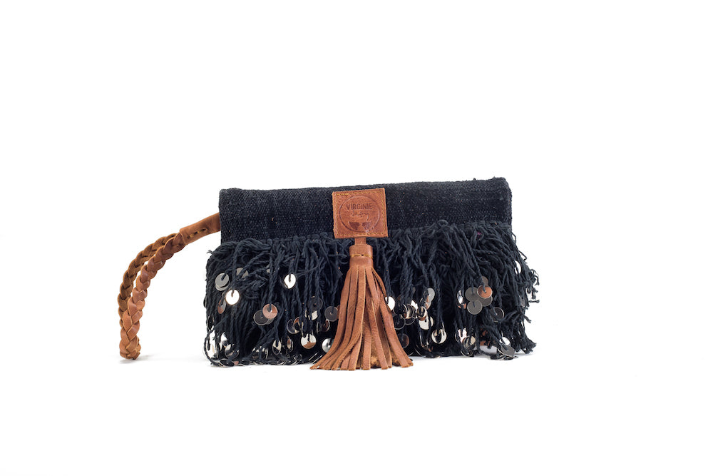 Elena Chic Black Clutch Virginie Darling - Clutch Virginie Darling