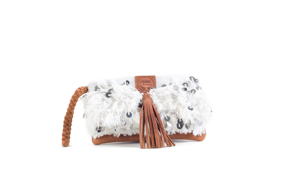 Elena Chic White Clutch Virginie Darling - Clutch Virginie Darling