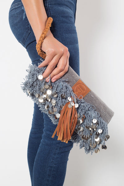 Elena Chic Grey Clutch Virginie Darling - Clutch