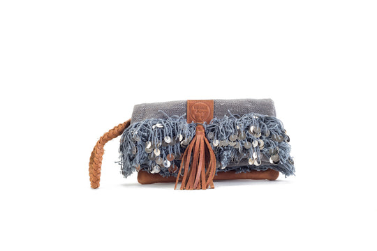 Elena Chic Grey Clutch Virginie Darling - Clutch Virginie Darling