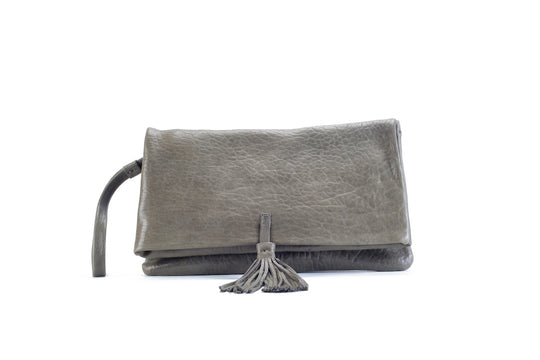 Elena Kaki Clutch Medium Virginie Darling - Clutch Virginie Darling