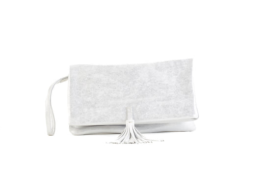 Elena Silver Clutch Medium Virginie Darling - Clutch Virginie Darling