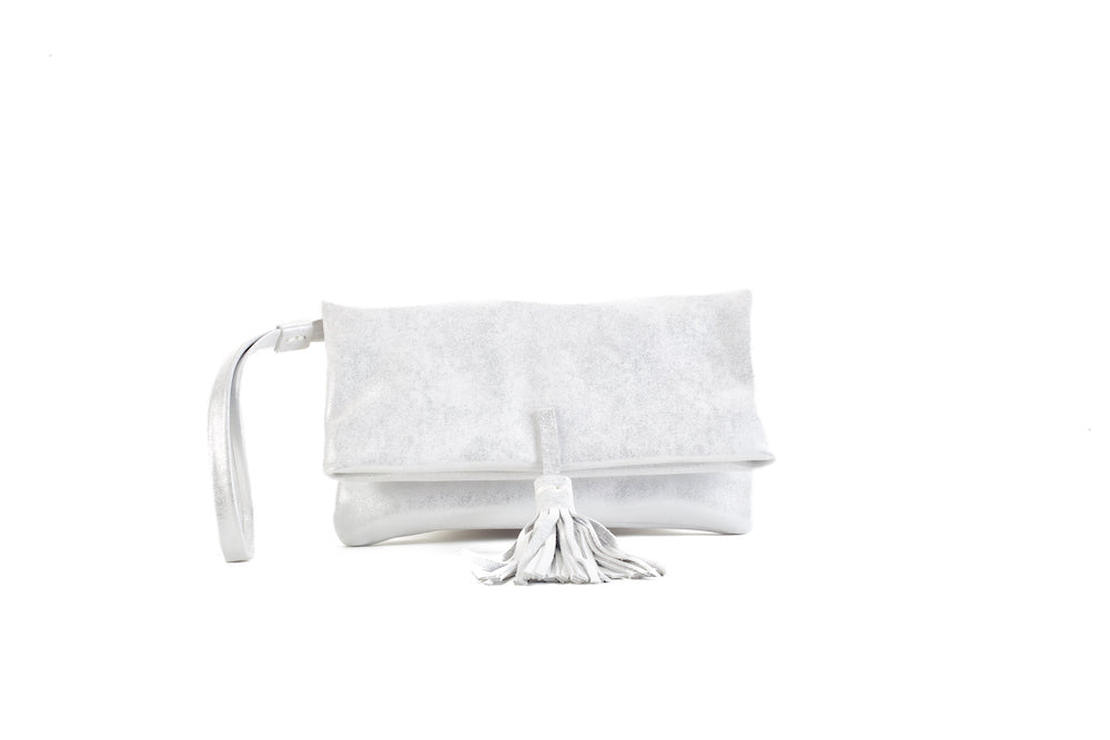 Elena Silver Clutch Small Virginie Darling - Clutch Virginie Darling