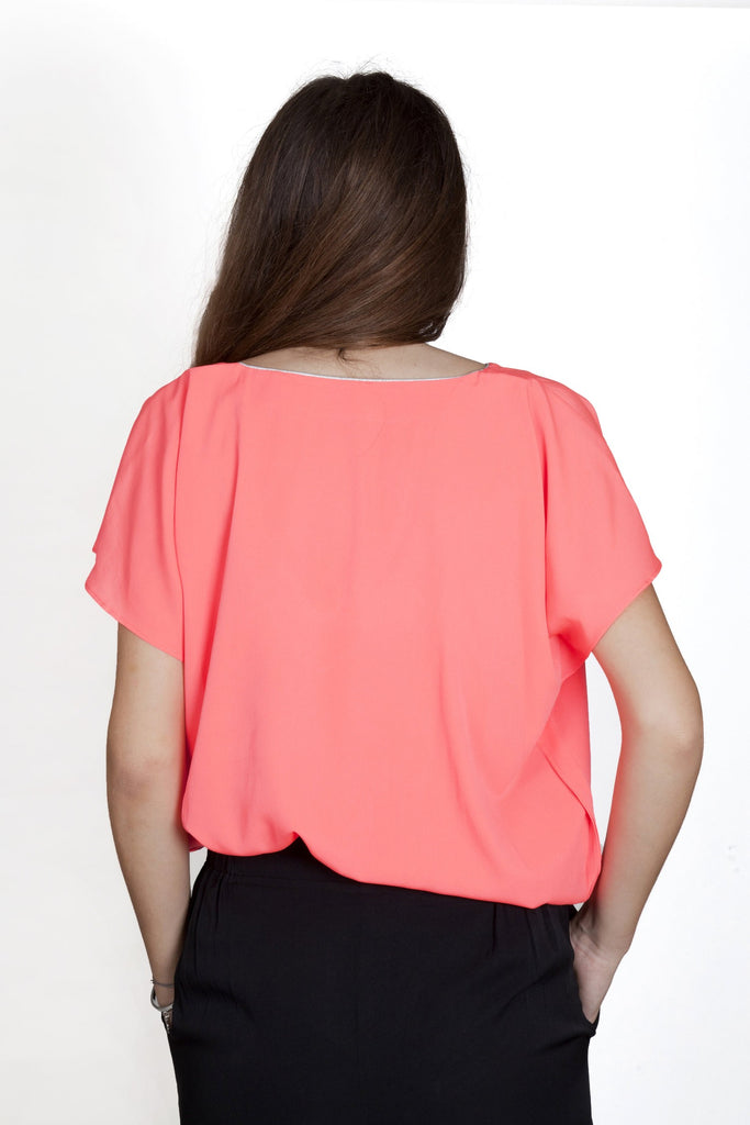 Stella Neon Orange Top Capsule Collection By Juliette - Tops
