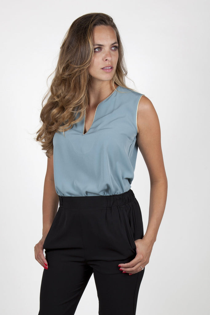 Ina Light Green Top Capsule Collection By Juliette - S / Powderblue - Tops By
