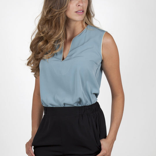 Ina Light Green Top Capsule Collection By Juliette - S / Powderblue - Tops Capsule Collection By Juliette