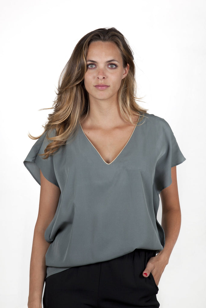 Stella Grey Top Capsule Collection By Juliette - Tops Capsule Collection By Juliette