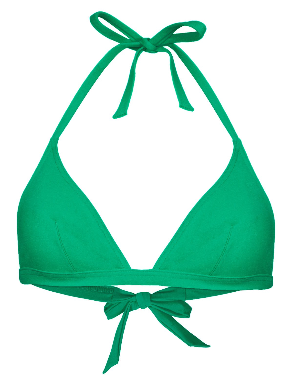 bikini top triangle green
